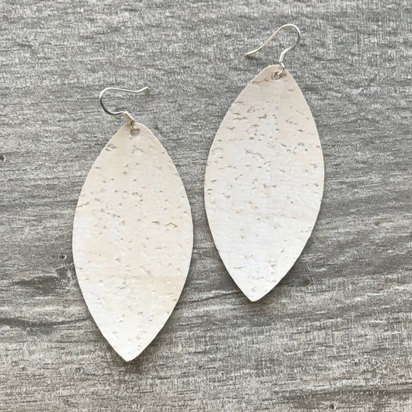 Jewelry - 4/$24 Thin Marquis Handmade Cork-Style Earrings